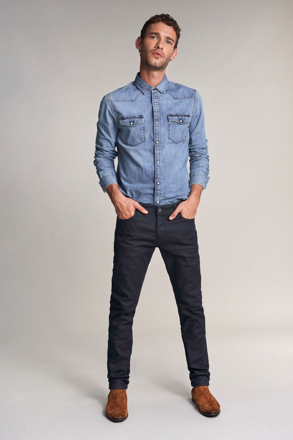 Slender slim carrot jeans in dark blue - Salsa