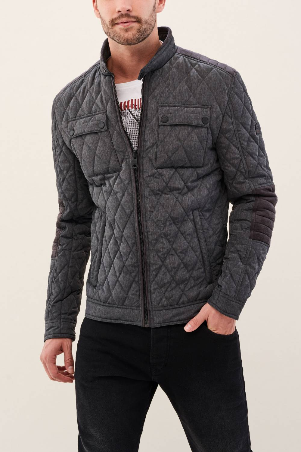 Nylon jacket with details - Salsa