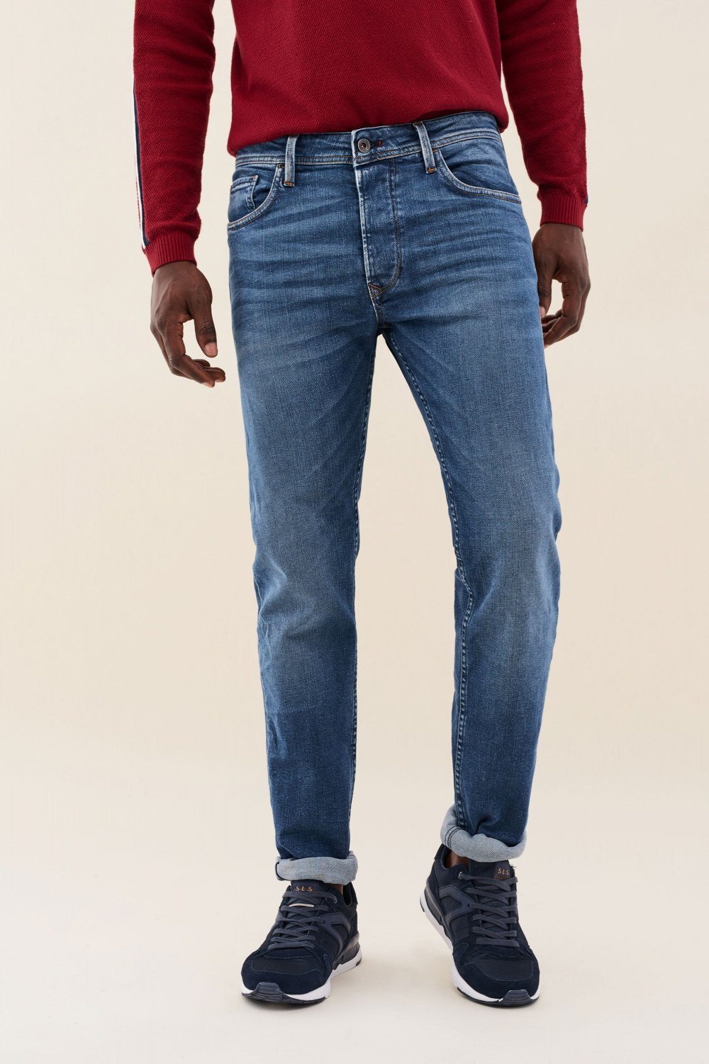Vaqueros lima tapered color medio - Salsa