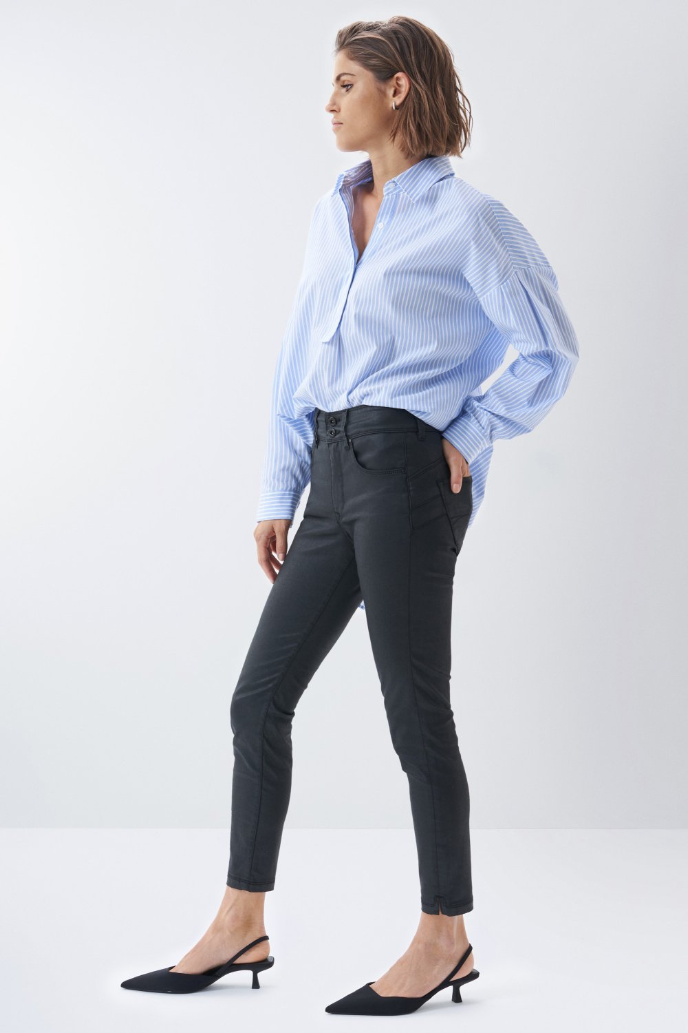 Jeans Secret push in enduits - Salsa