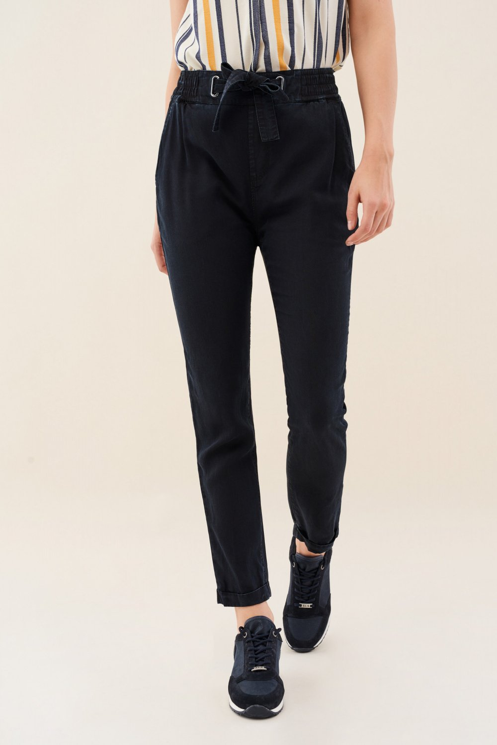 Pantaloni june jogger denim - Salsa