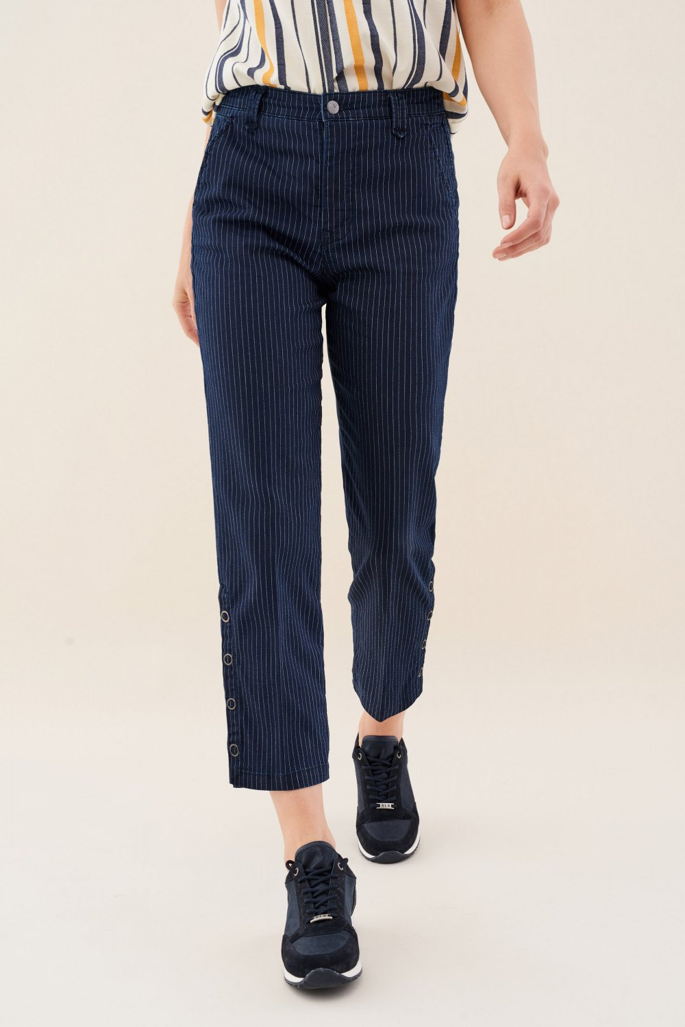 June jogger trousers in striped - Salsa
