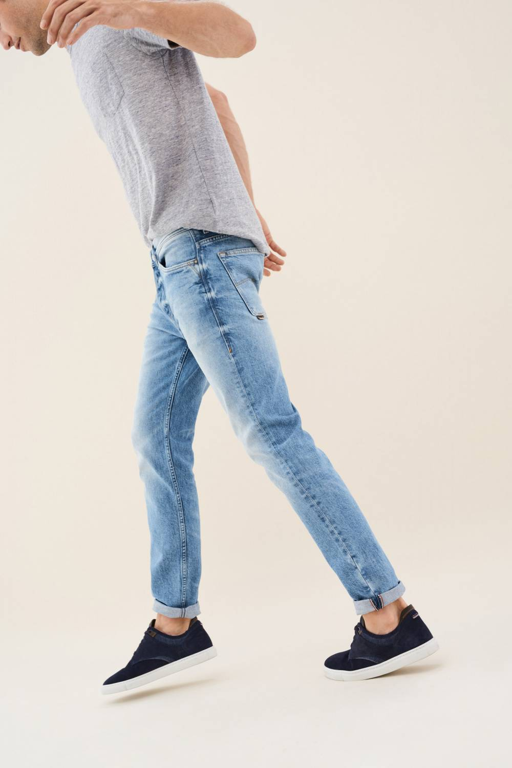Andy slim jeans with detail on pocket - Salsa