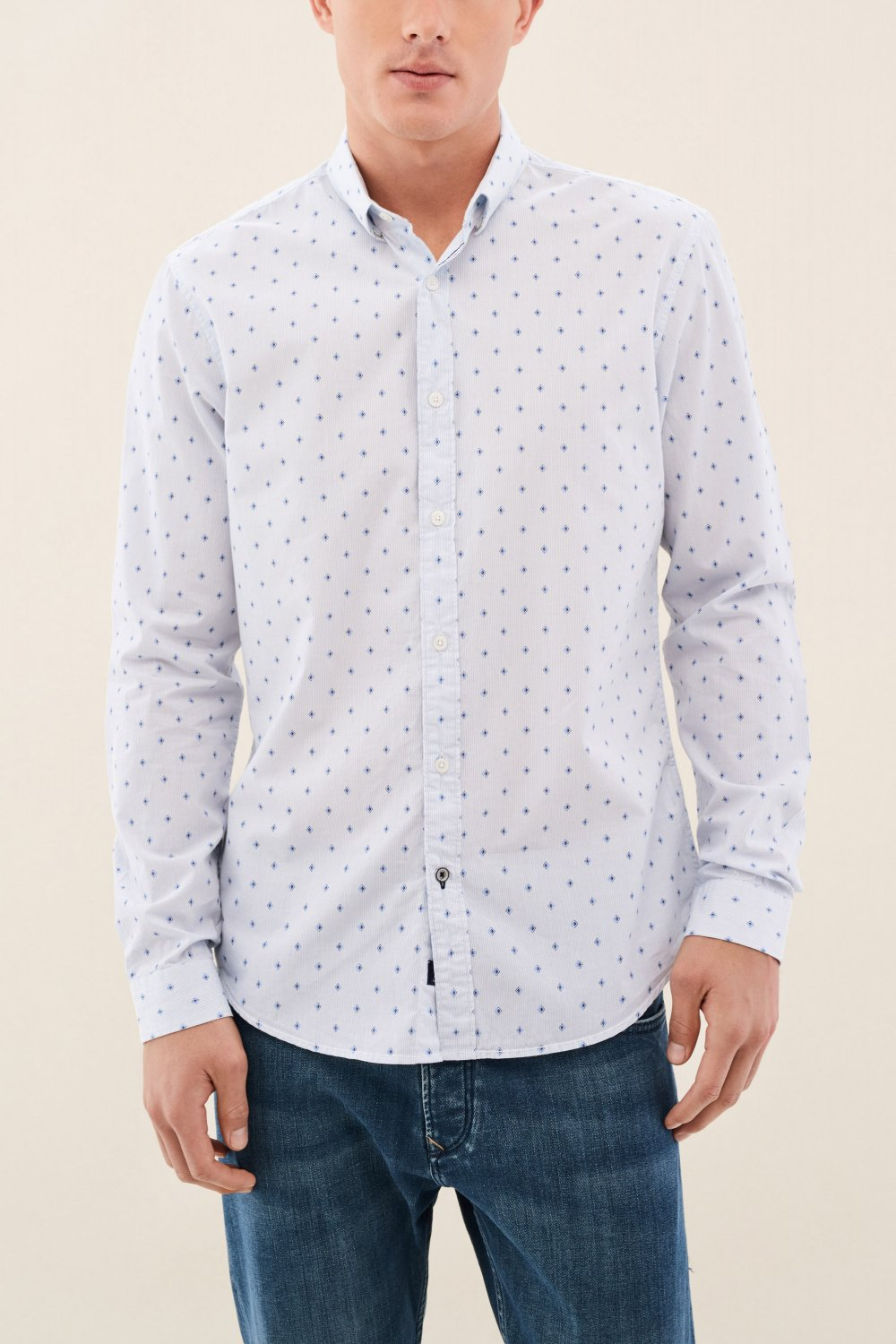Slim fit shirt with microprint - Salsa