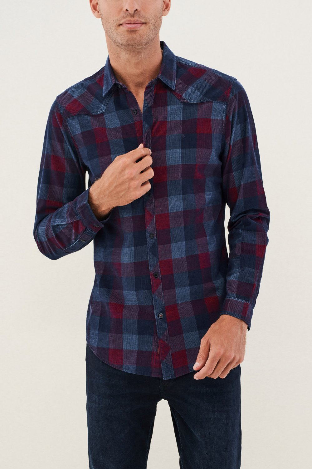 Camisa fit regular de pana - Salsa