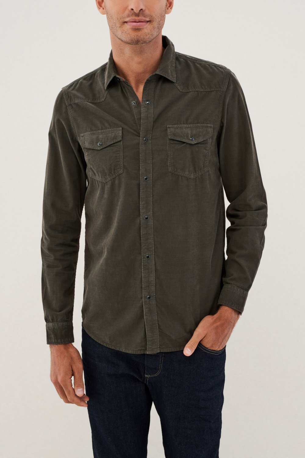 Corduroy slim fit shirt - Salsa