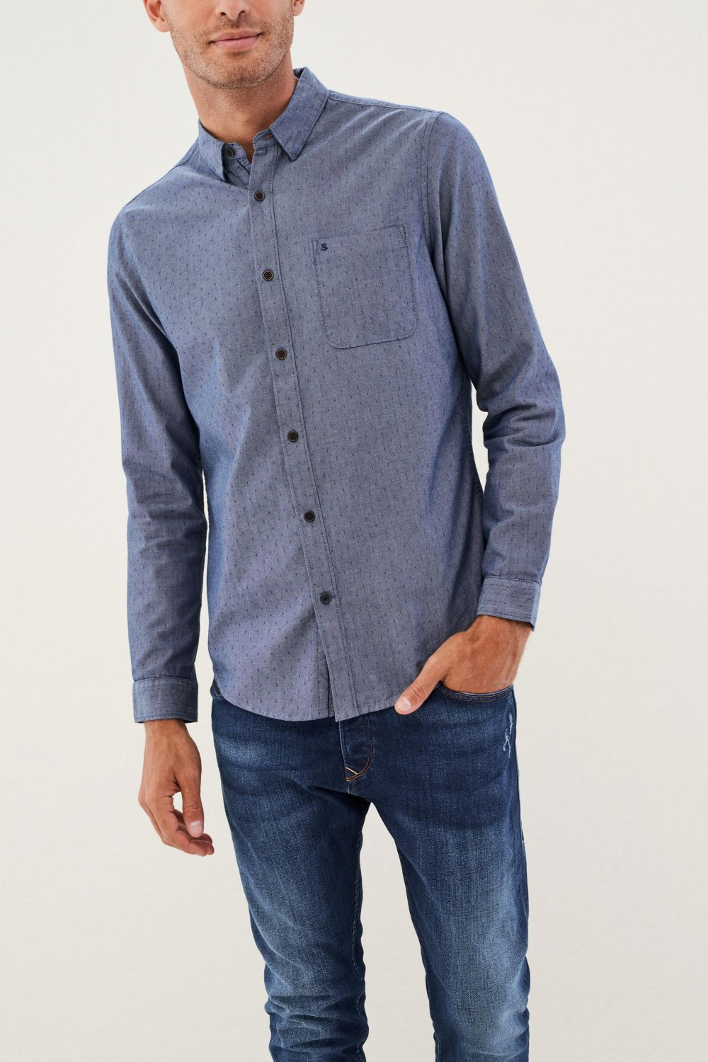 Slim fit shirt with texture - Salsa