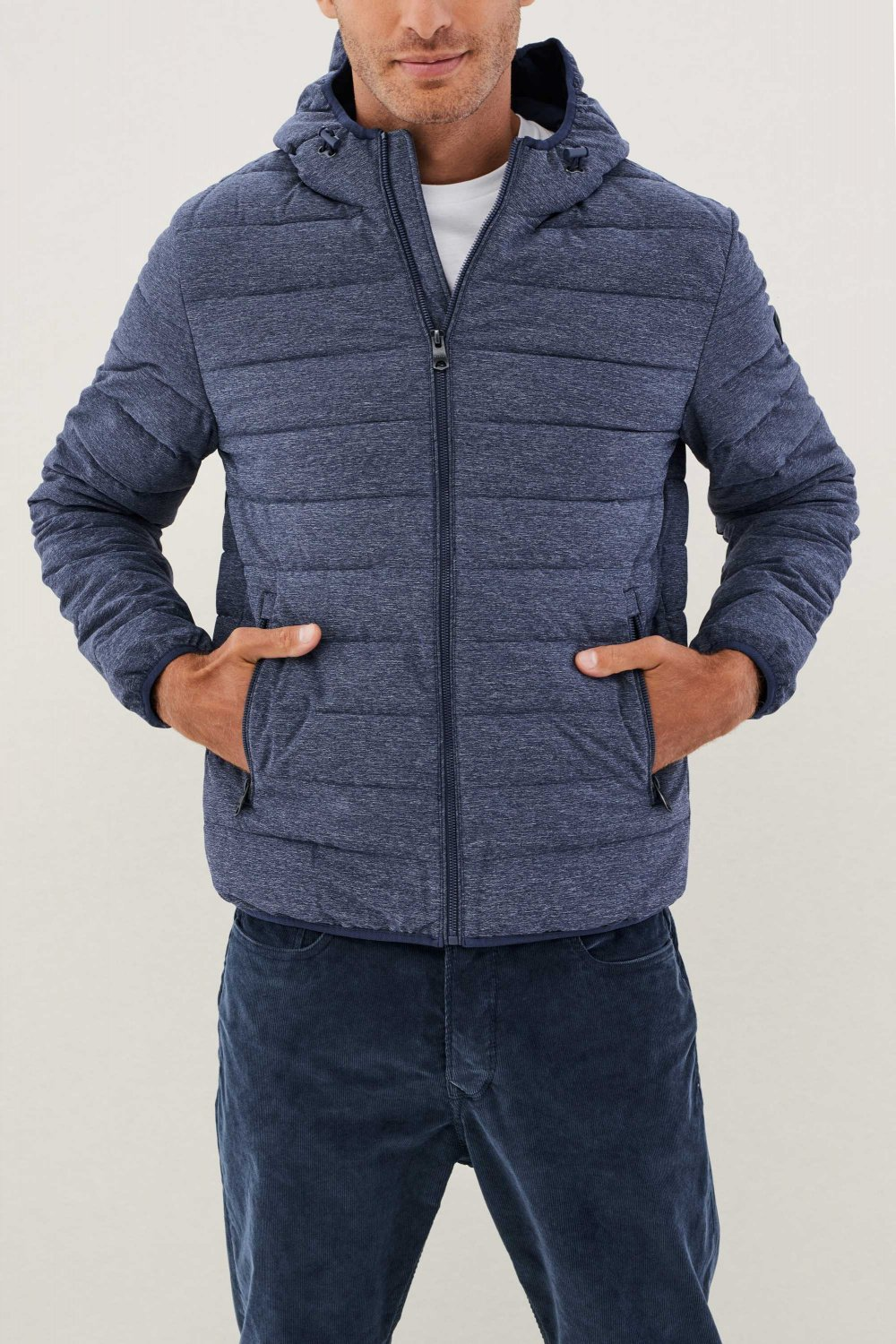 Regular fit denim effect jacket with hood - Salsa
