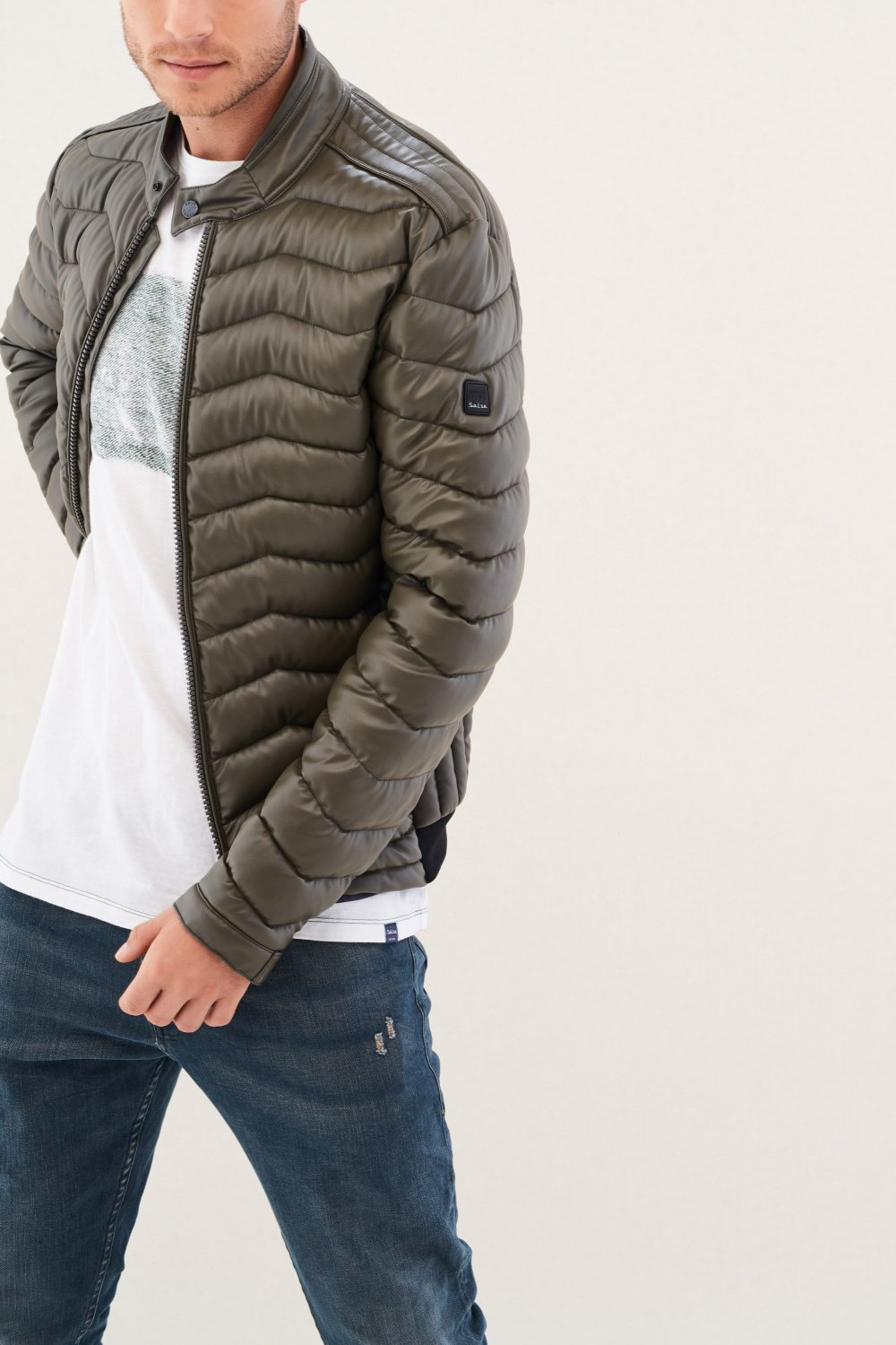 Padded regular fit jacket - Salsa