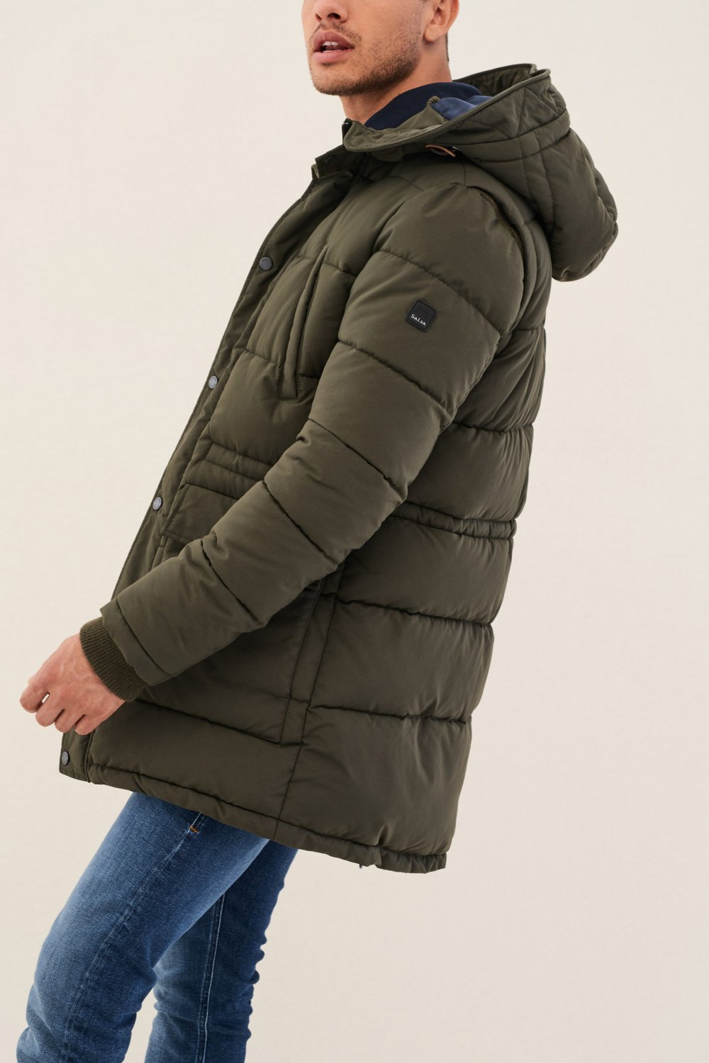 Long padded coat with detachable hood - Salsa