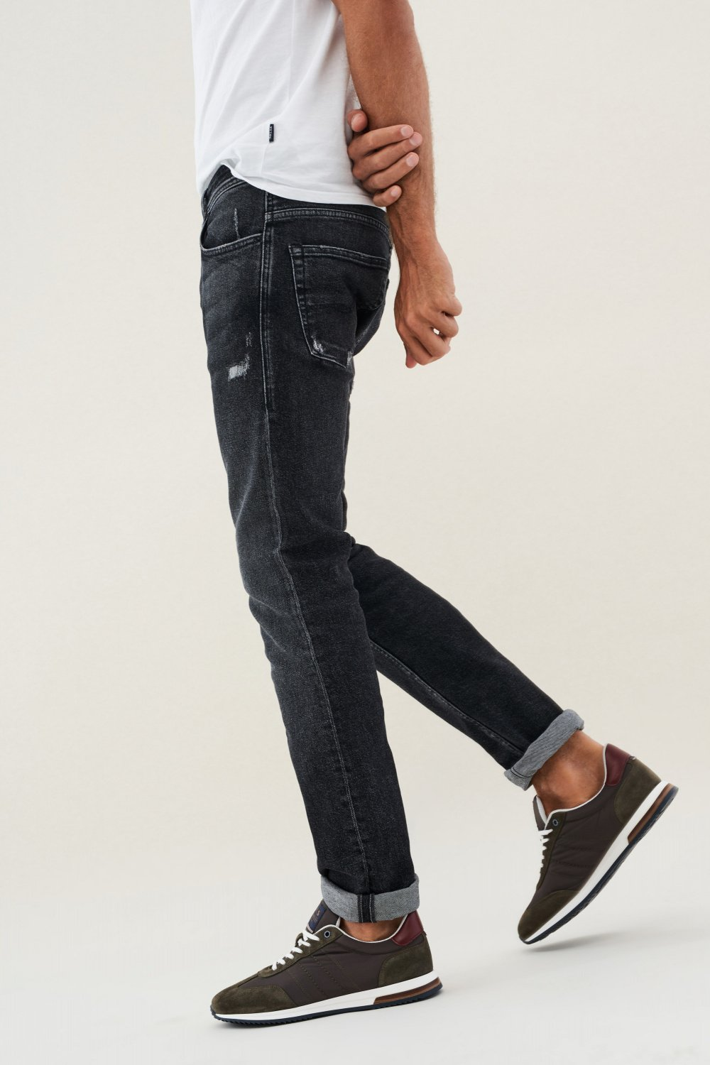 Jeans Lima tapered délavage moyen vintage - Salsa