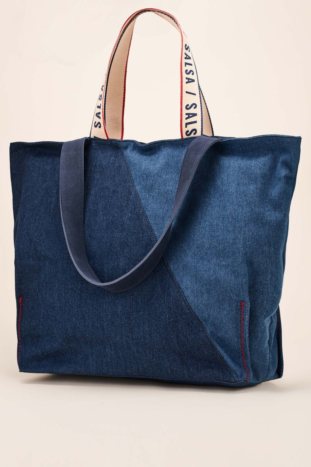 Mixed denim handbag - Salsa