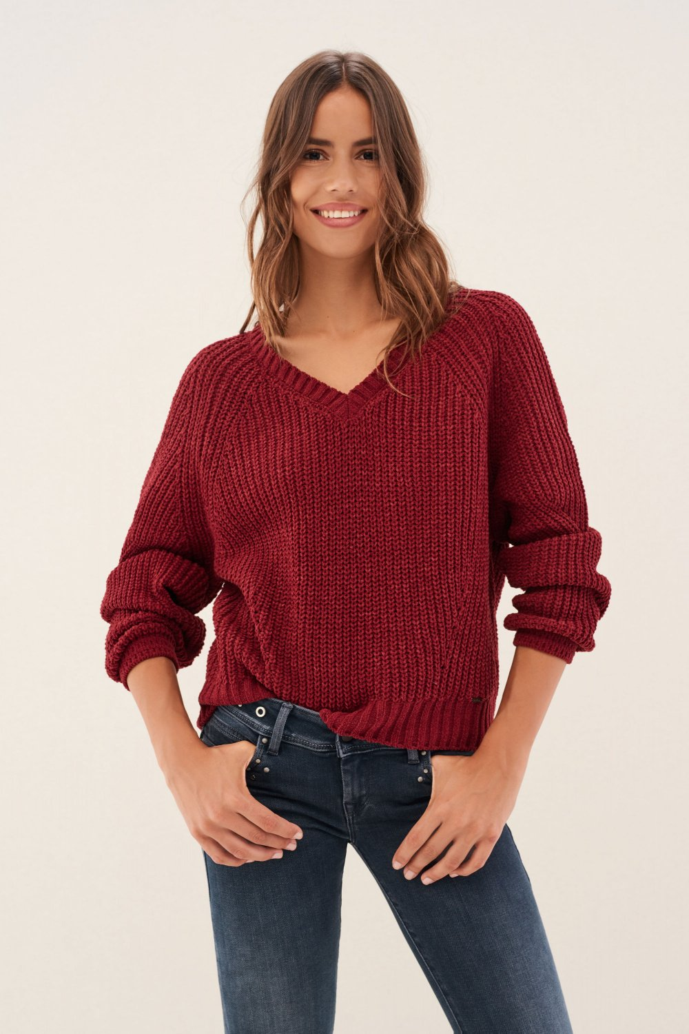 Knitted jersey in chenille - Salsa