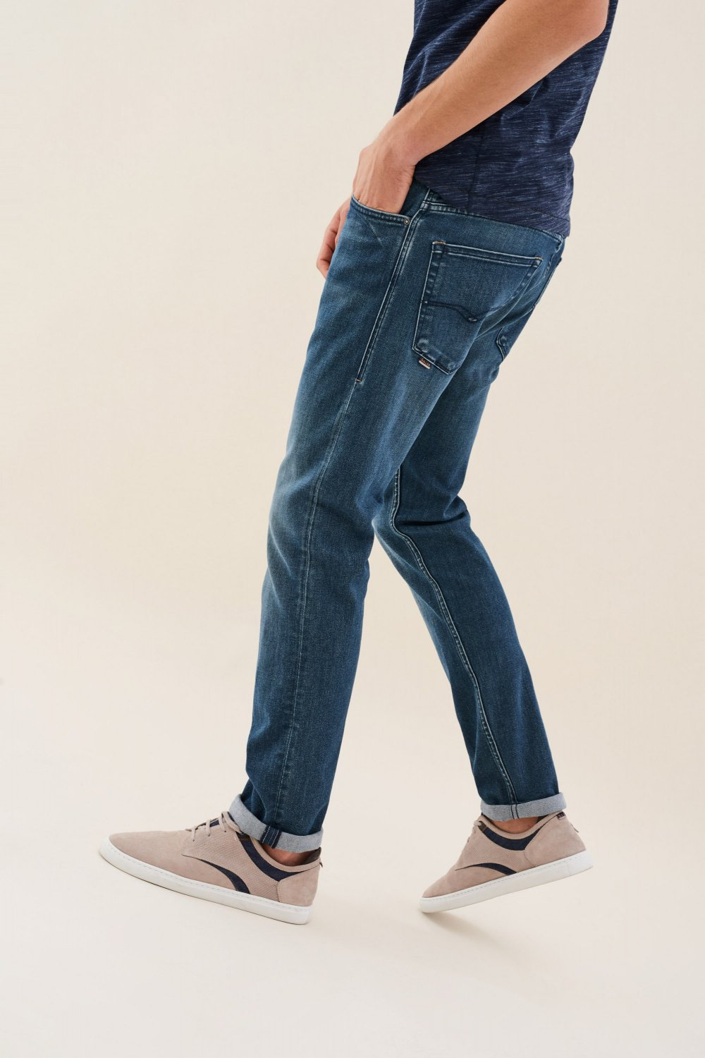 Slender slim carrot warm denim jeans - Salsa