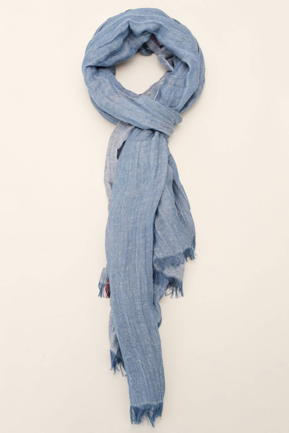 Scarf with side stripe - Salsa