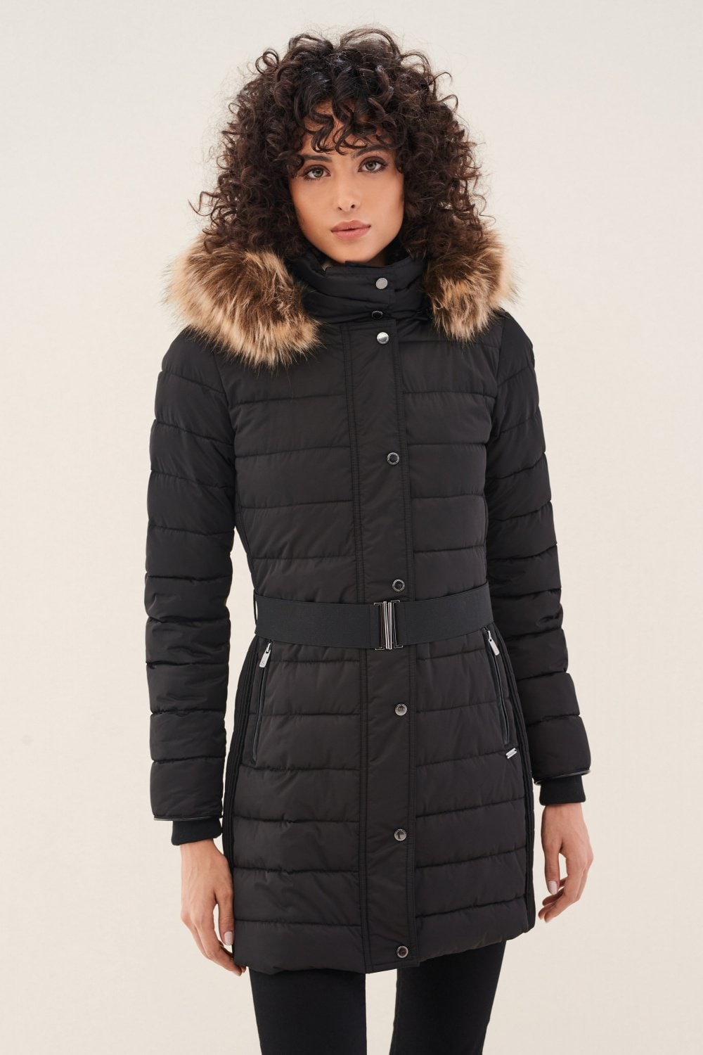Long padded coat with hood - Salsa
