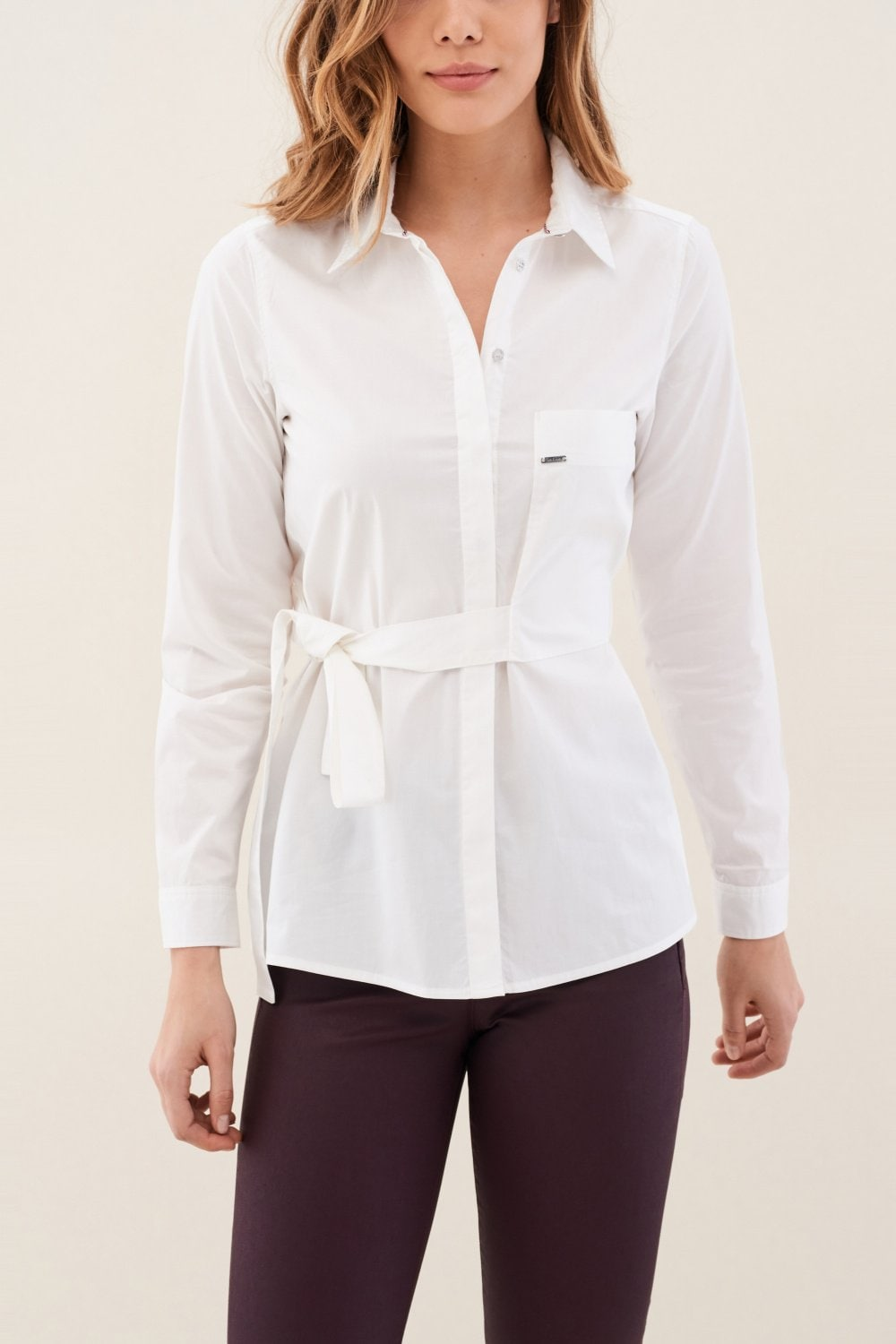 Regular fit shirt with bow pocket - Salsa