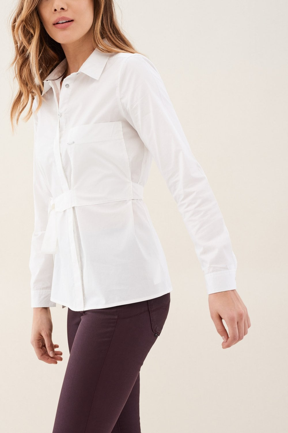 Camicia fit regular fit con nastro sul taschino - Salsa