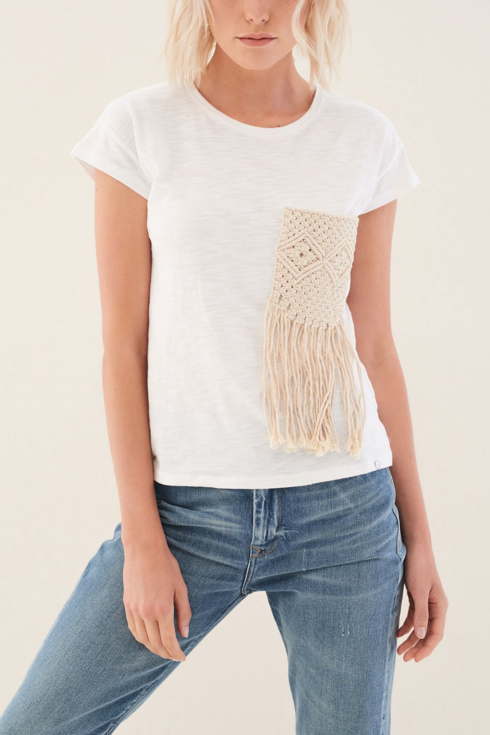 T-shirt with pocket in crochet - Salsa
