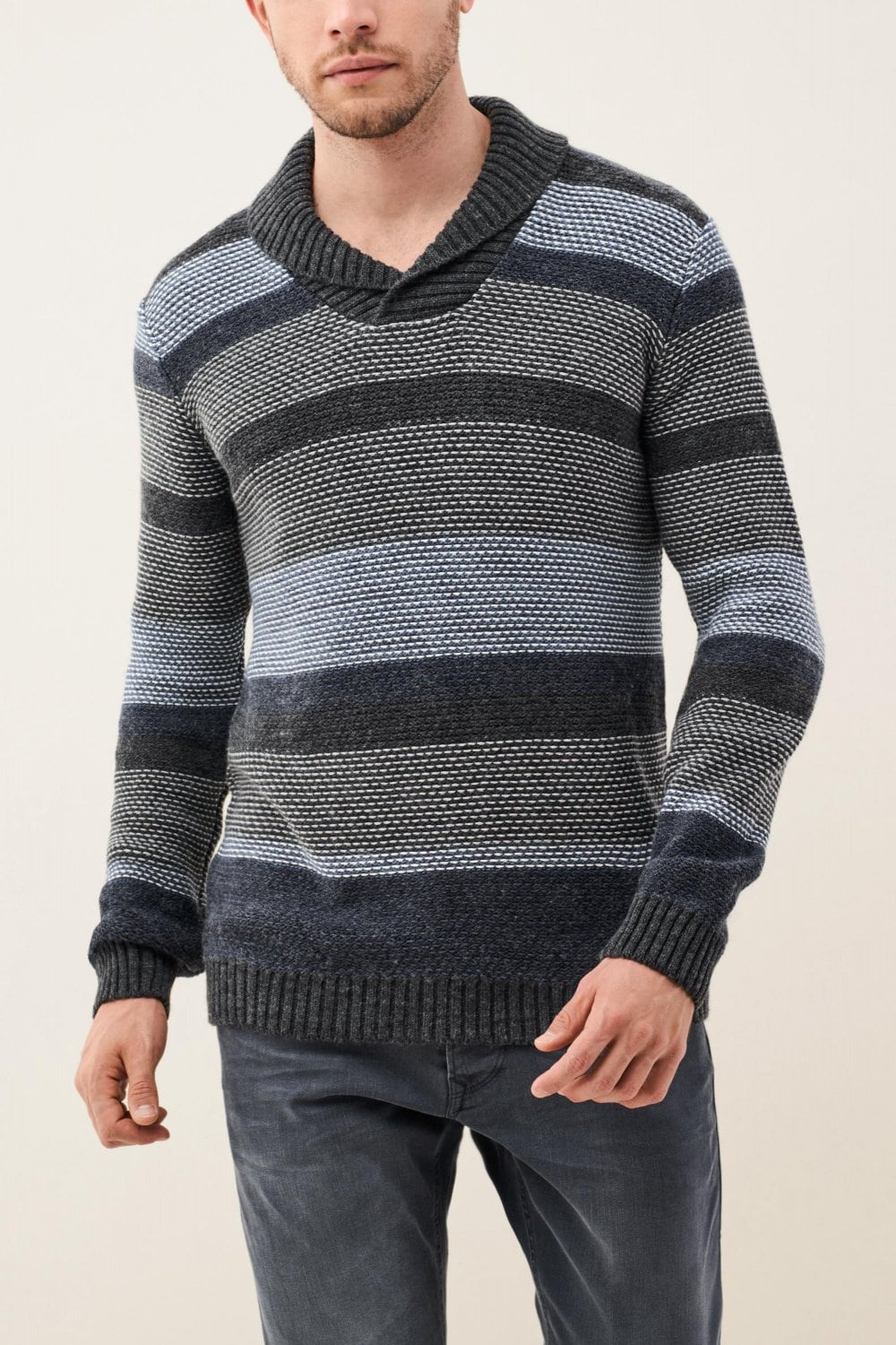Knitted sweater with stripes - Salsa