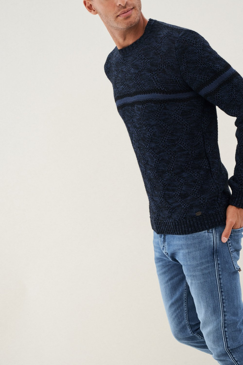 Pull en maille à rayures - Salsa