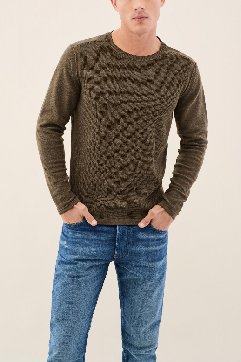 Knitted jumper with texture - Salsa