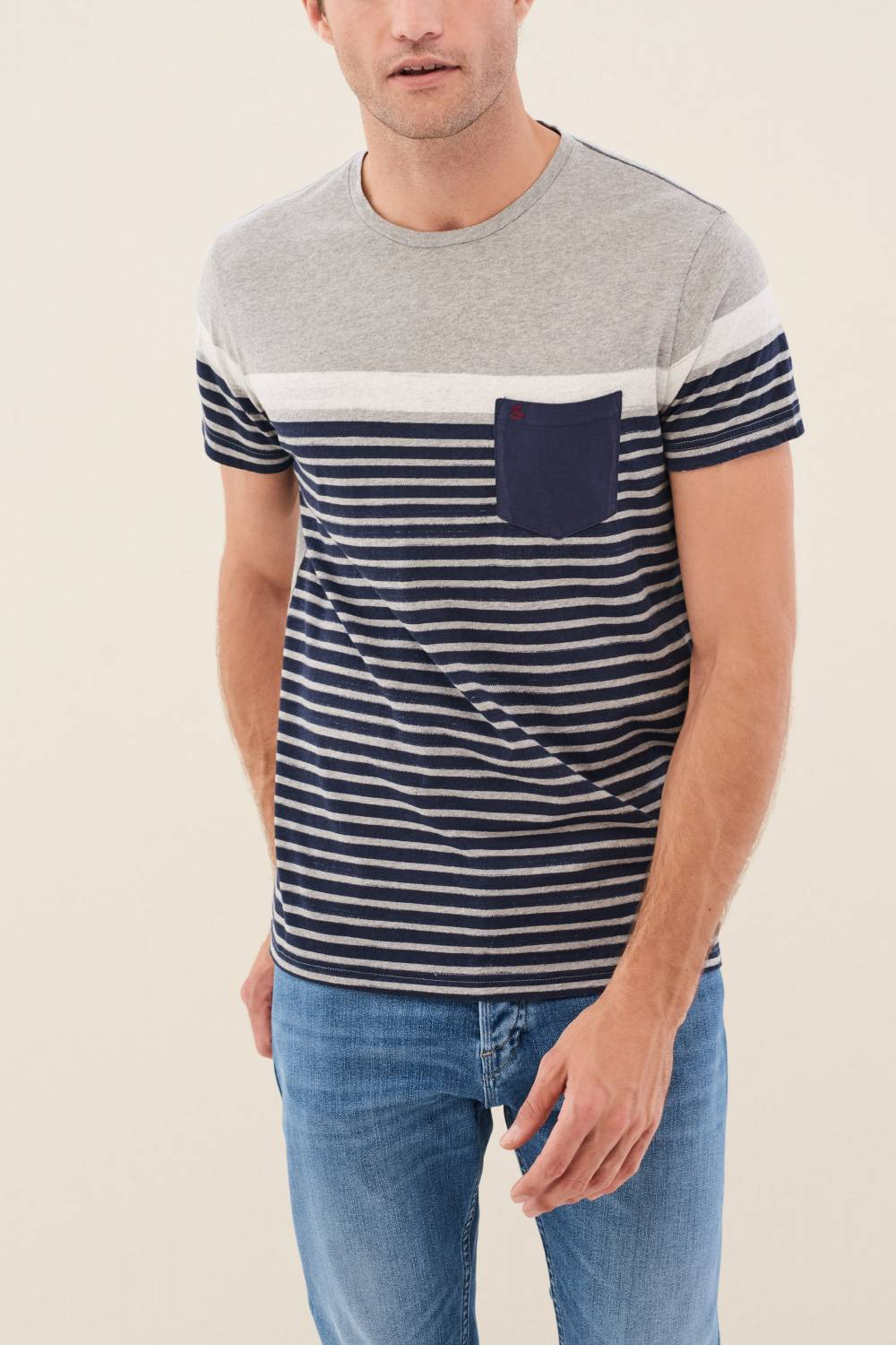 Striped t-shirt with pocket - Salsa