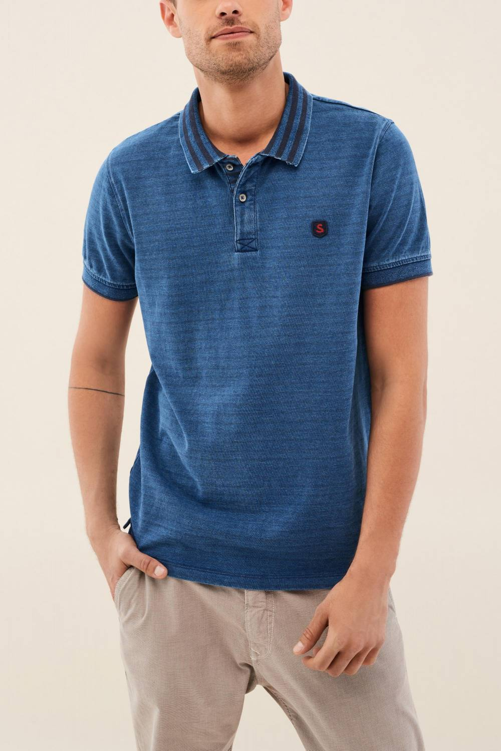 Slim fit striped polo shirt - Salsa