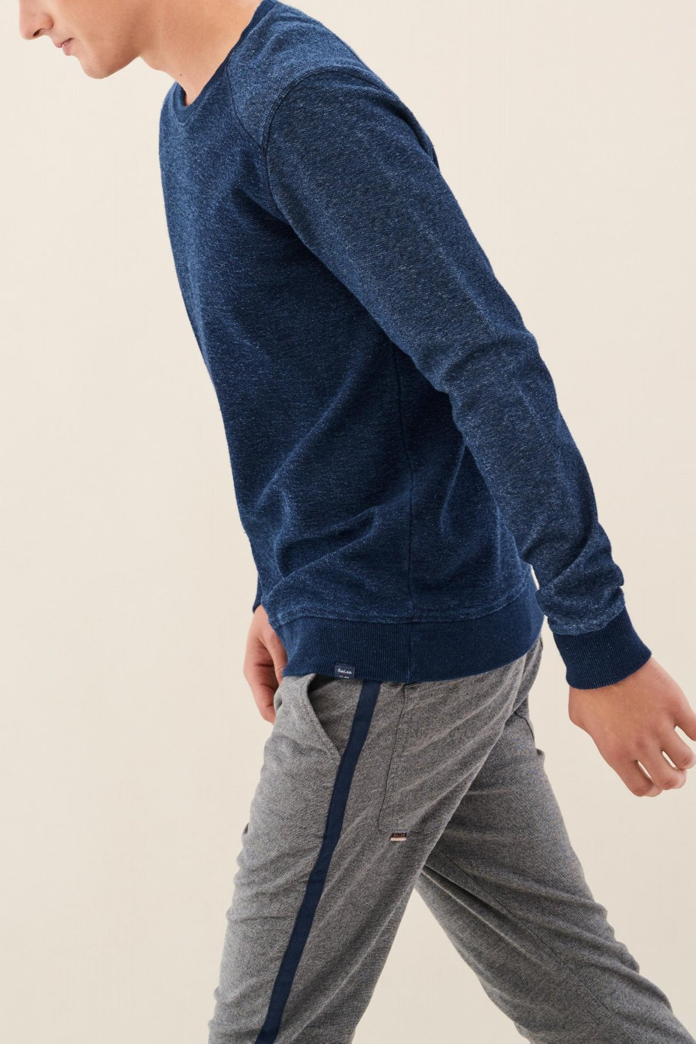 Regular fit jumper with texture - Salsa