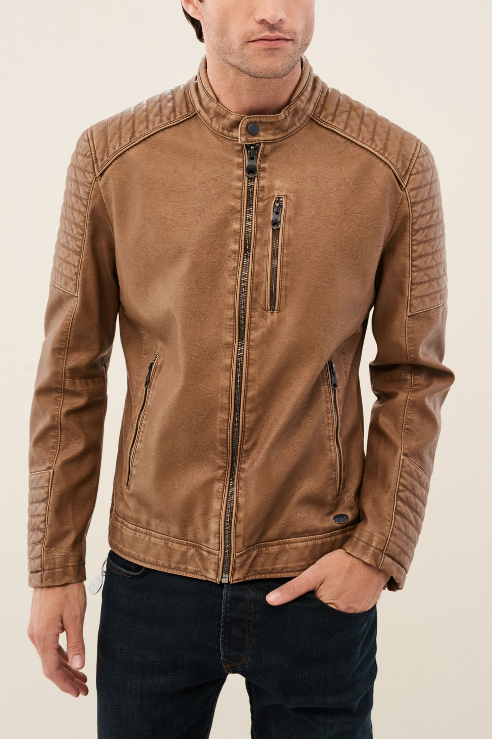 Slim fit jacket in nappa leather - Salsa