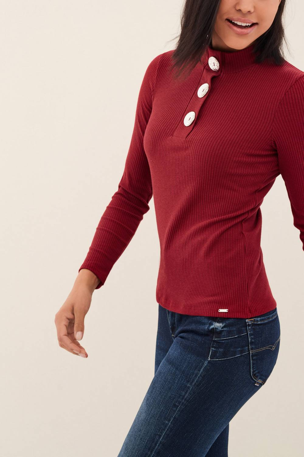 Sweatshirt with buttons on the chest - Salsa