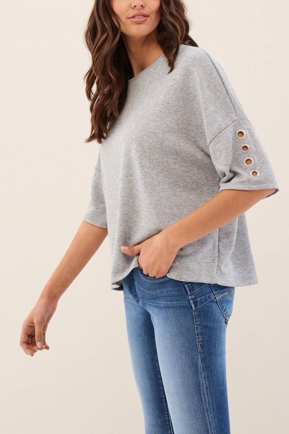 Jersey with eyelets on the sleeves - Salsa