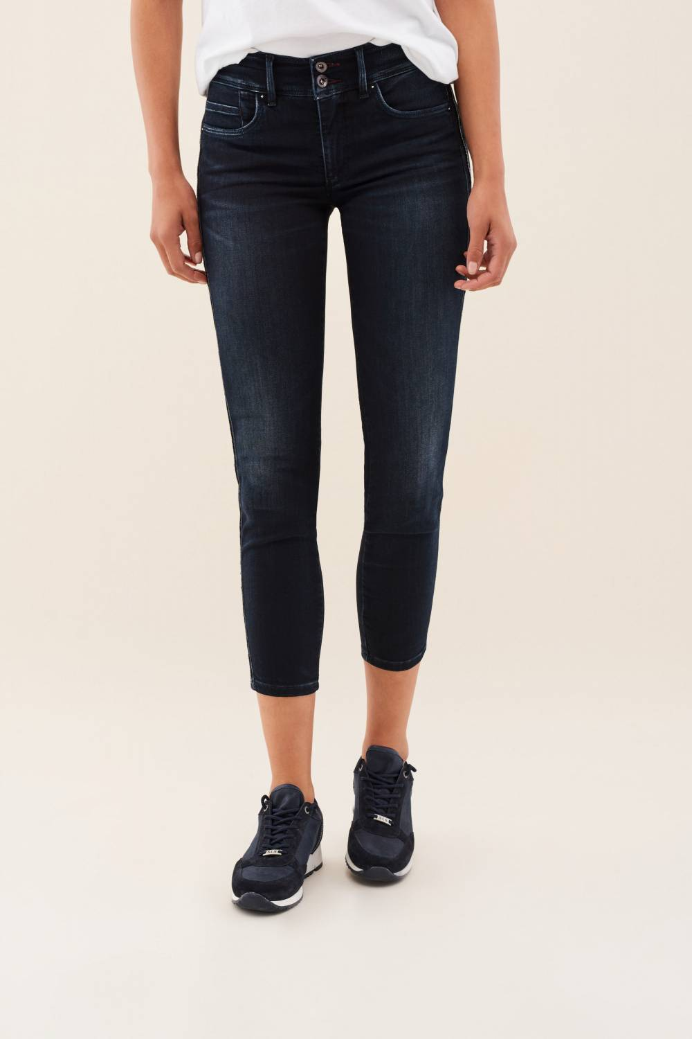 Secret push in jeans with side stripe - Salsa