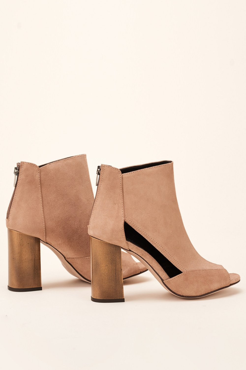 Open-toe leather boot - Salsa