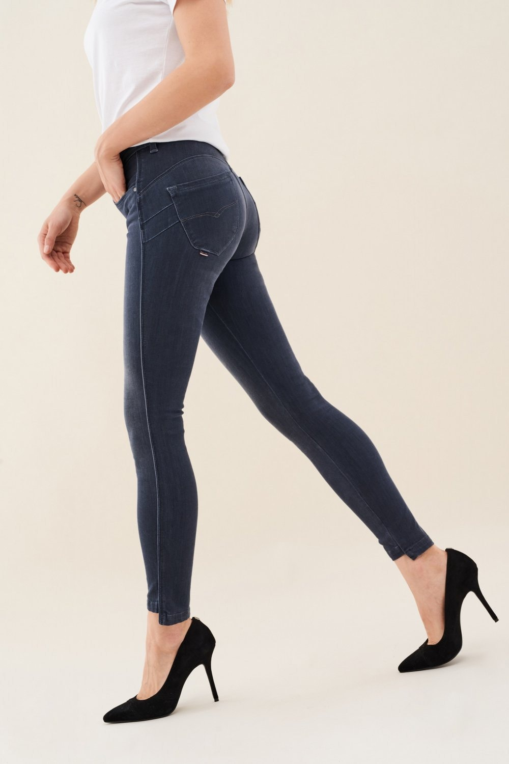 Secret push in jeans with chain detail - Salsa