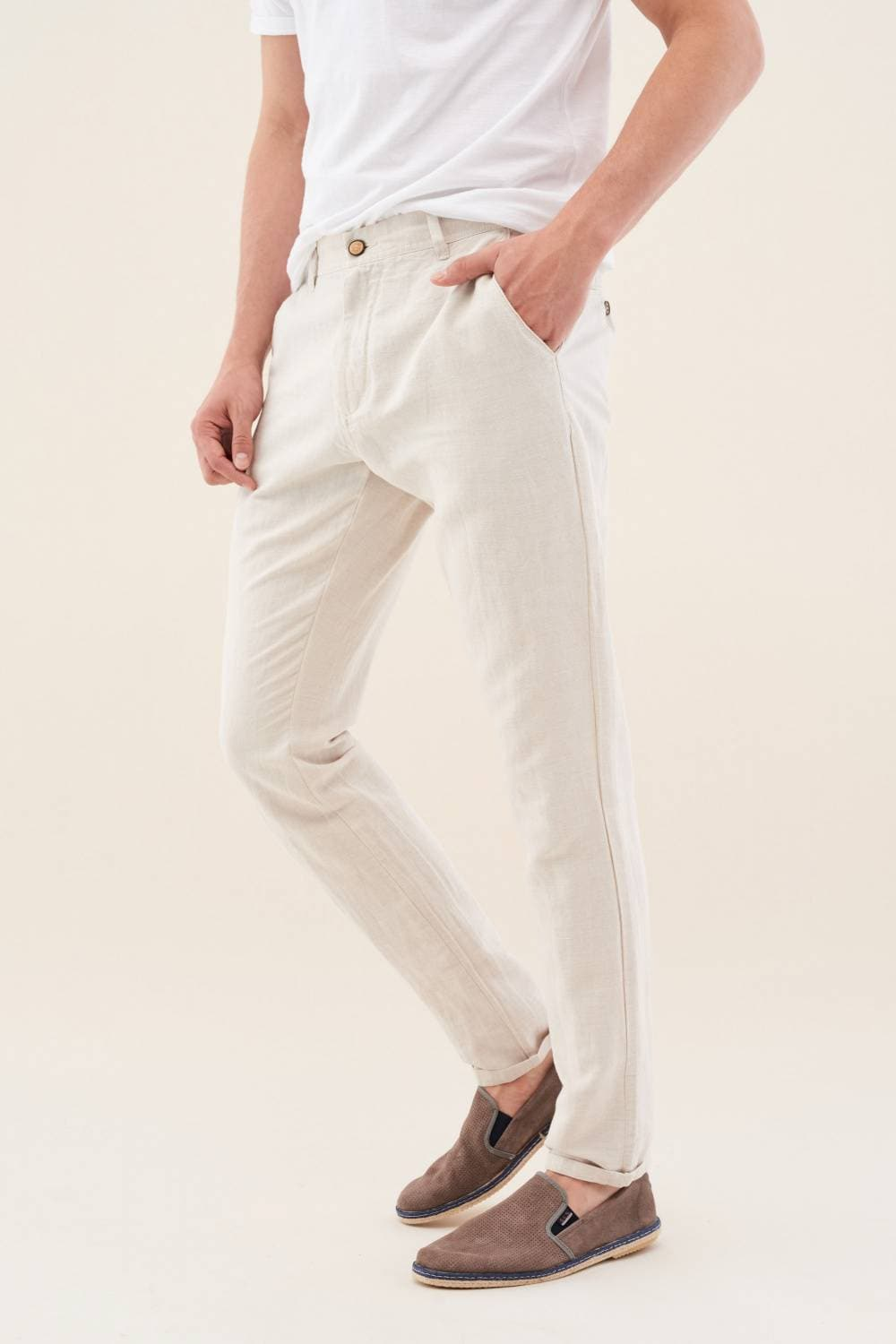 Andy Slim trousers in linen - Salsa