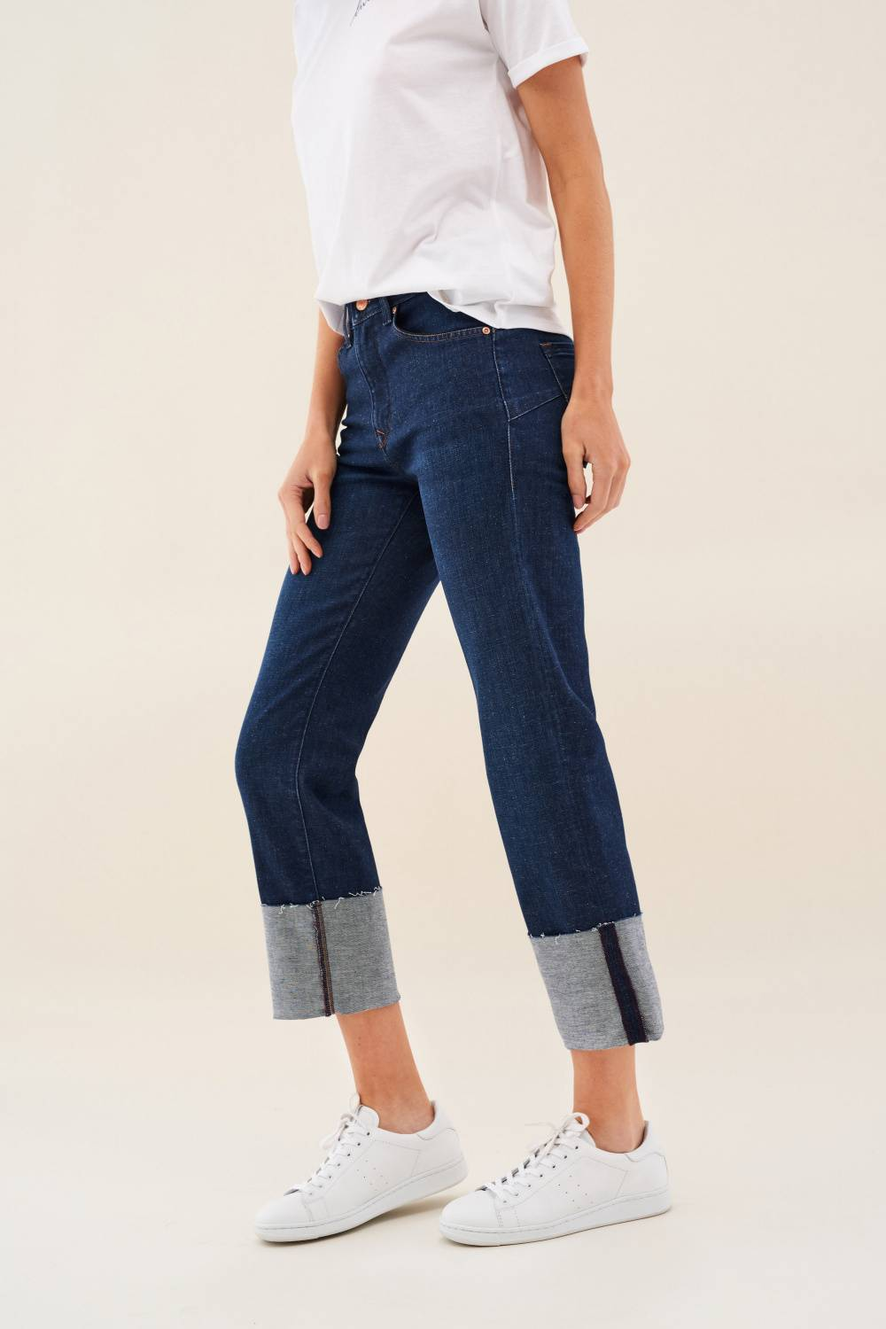 Jeans Secret Glamour, Push In, mit Krempelsaum - Salsa