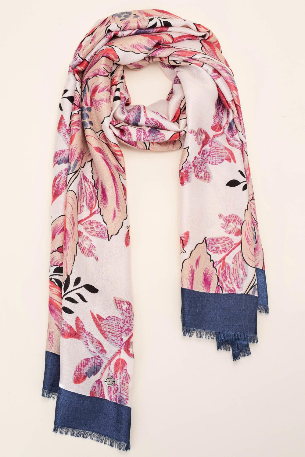 Floral effect scarf - Salsa