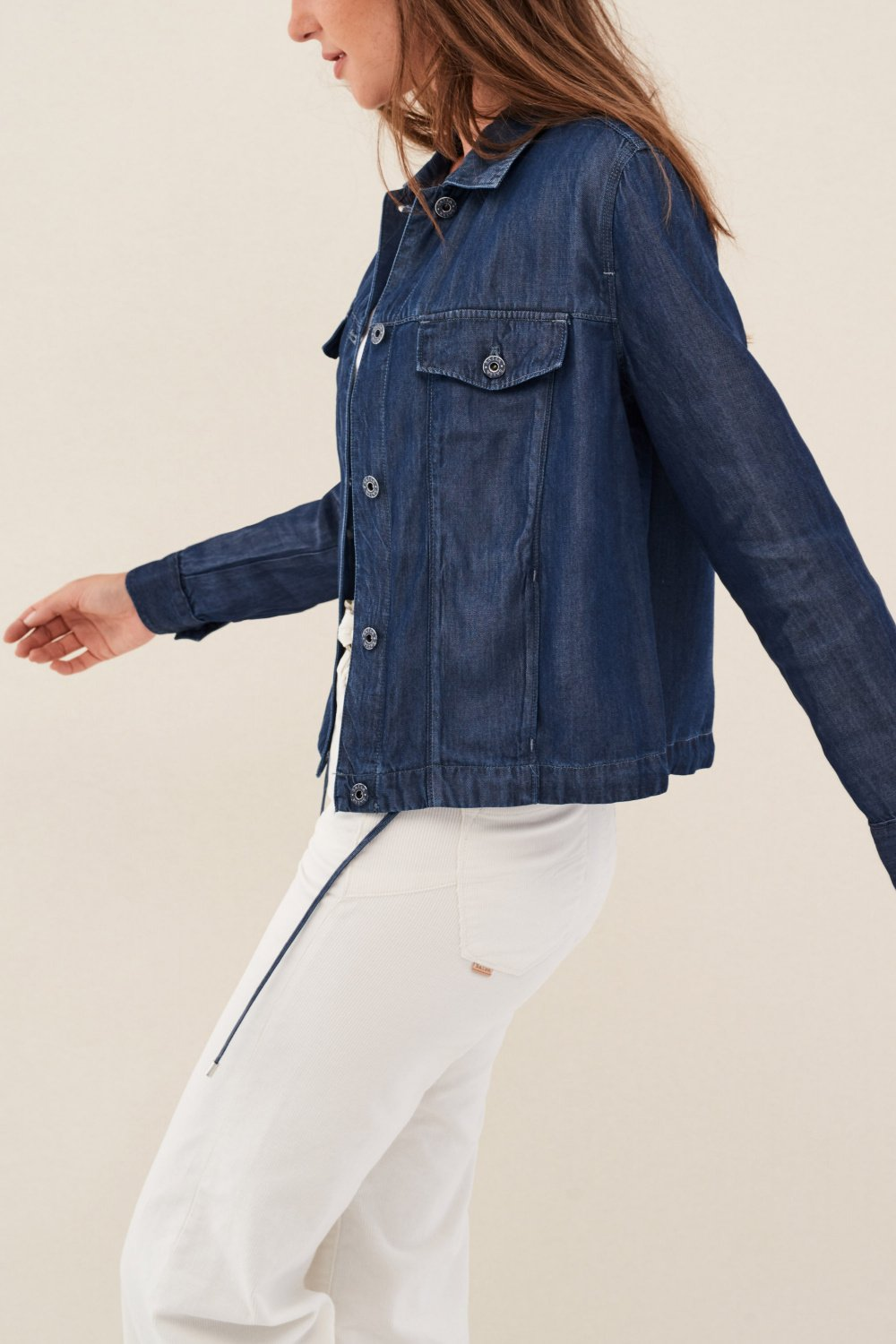 Regular fit denim jacket with thread - Salsa