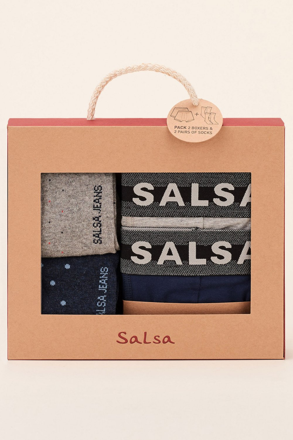 Pack 2 boxers and 2 socks - Salsa
