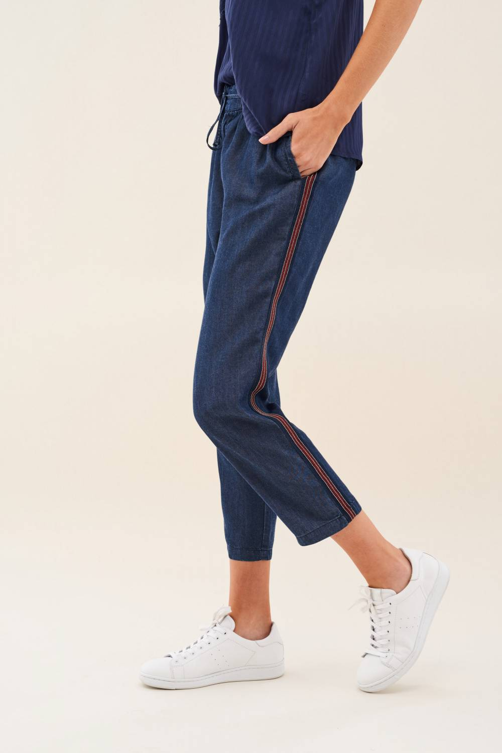 June jogger jeans in soft denim - Salsa