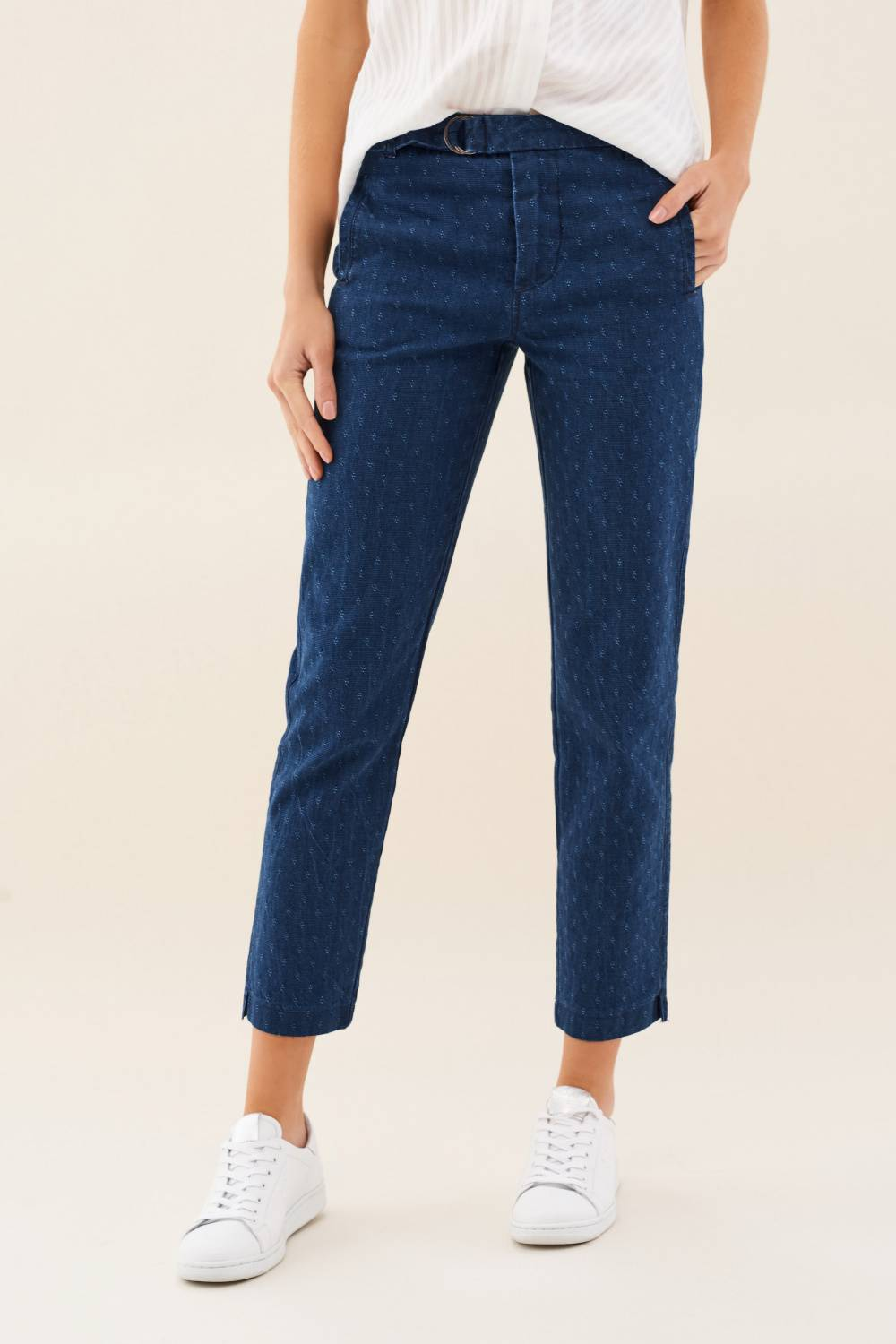Colette capri trousers with micro print - Salsa