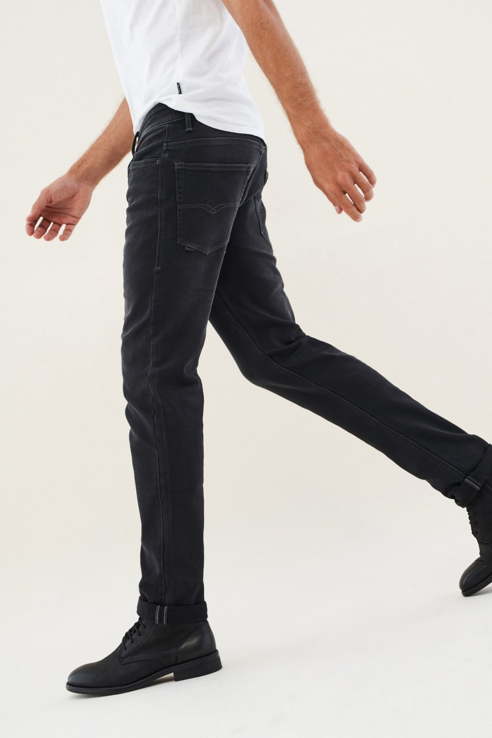 Jeans lima tapered en maille - Salsa
