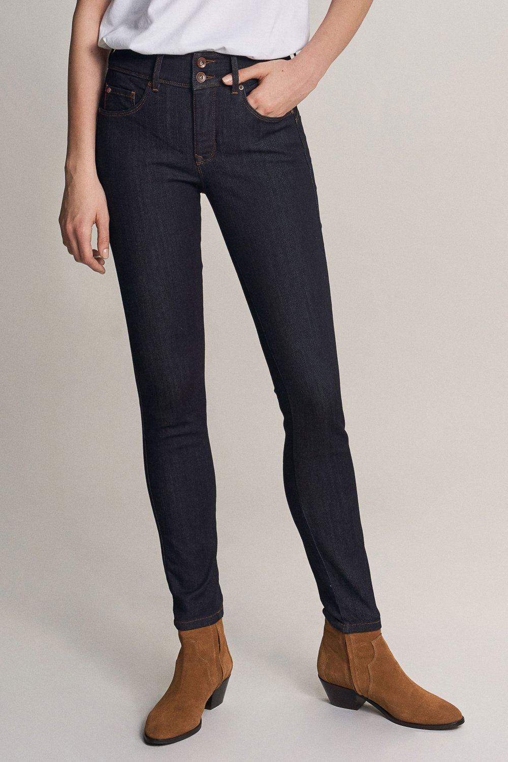 Secret push in skinny jeans with dark rinse - Salsa