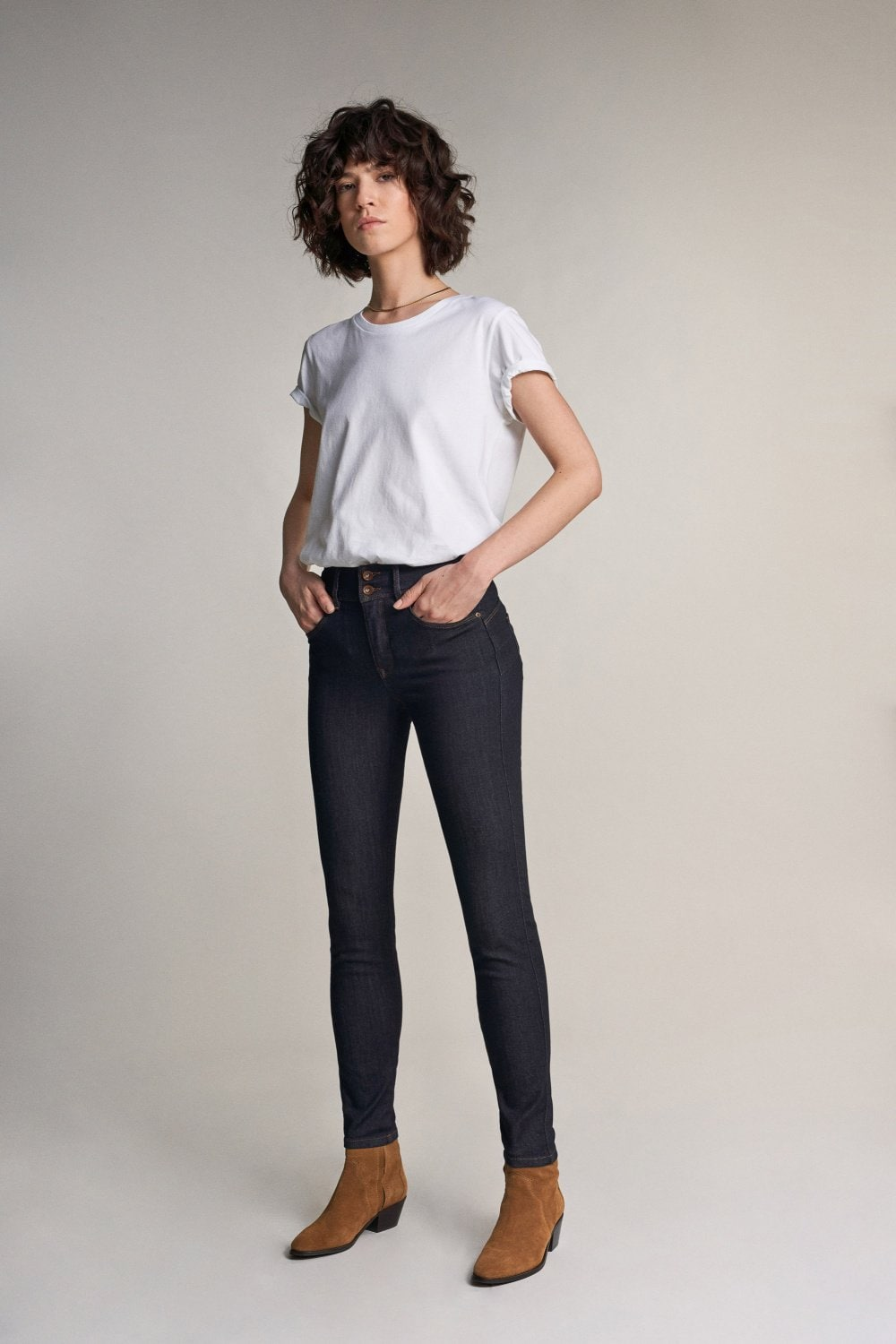 Jeans secret push in skinny con lavaggio scuro - Salsa