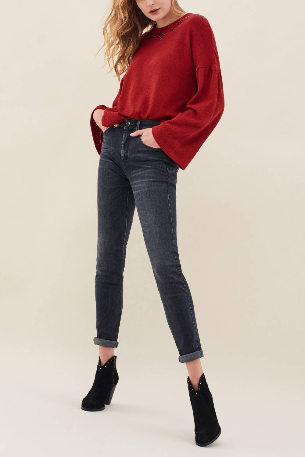Sweatshirt with detail on the neckline - Salsa