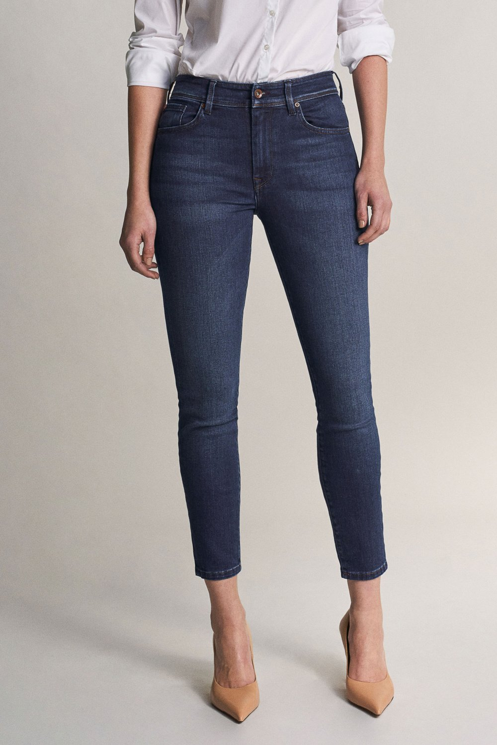 Bliss capri jeans in dark rinse - Salsa