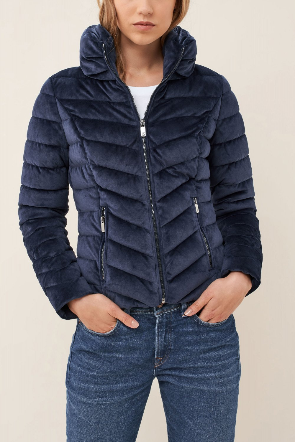 Padded jacket in velvet fabric - Salsa