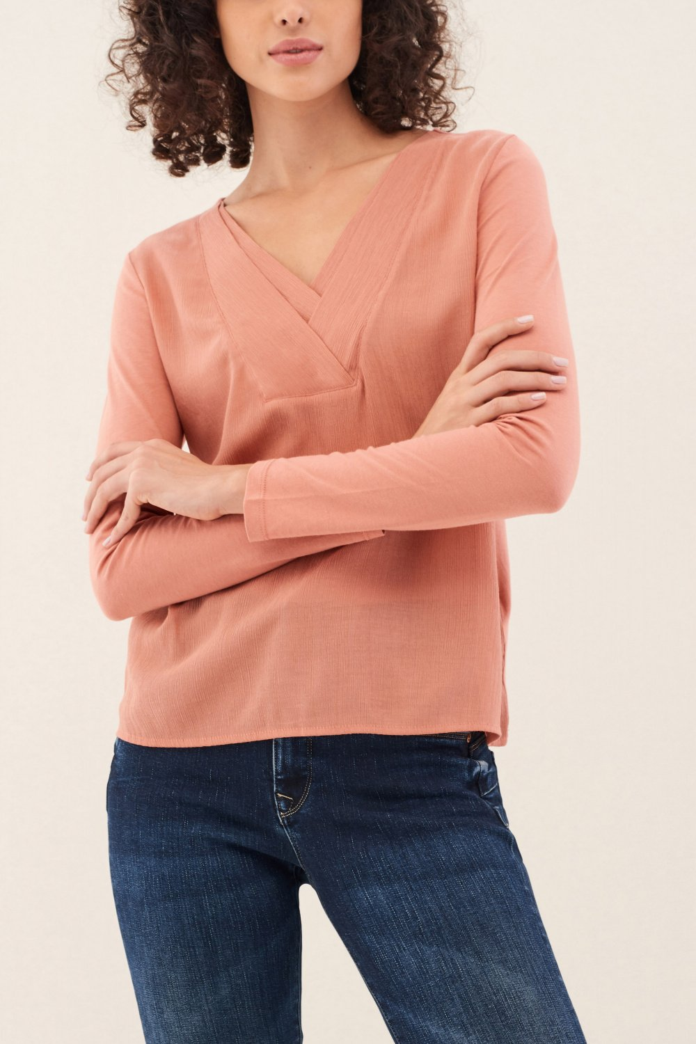 Sweatshirt with fabric detail on front - Salsa