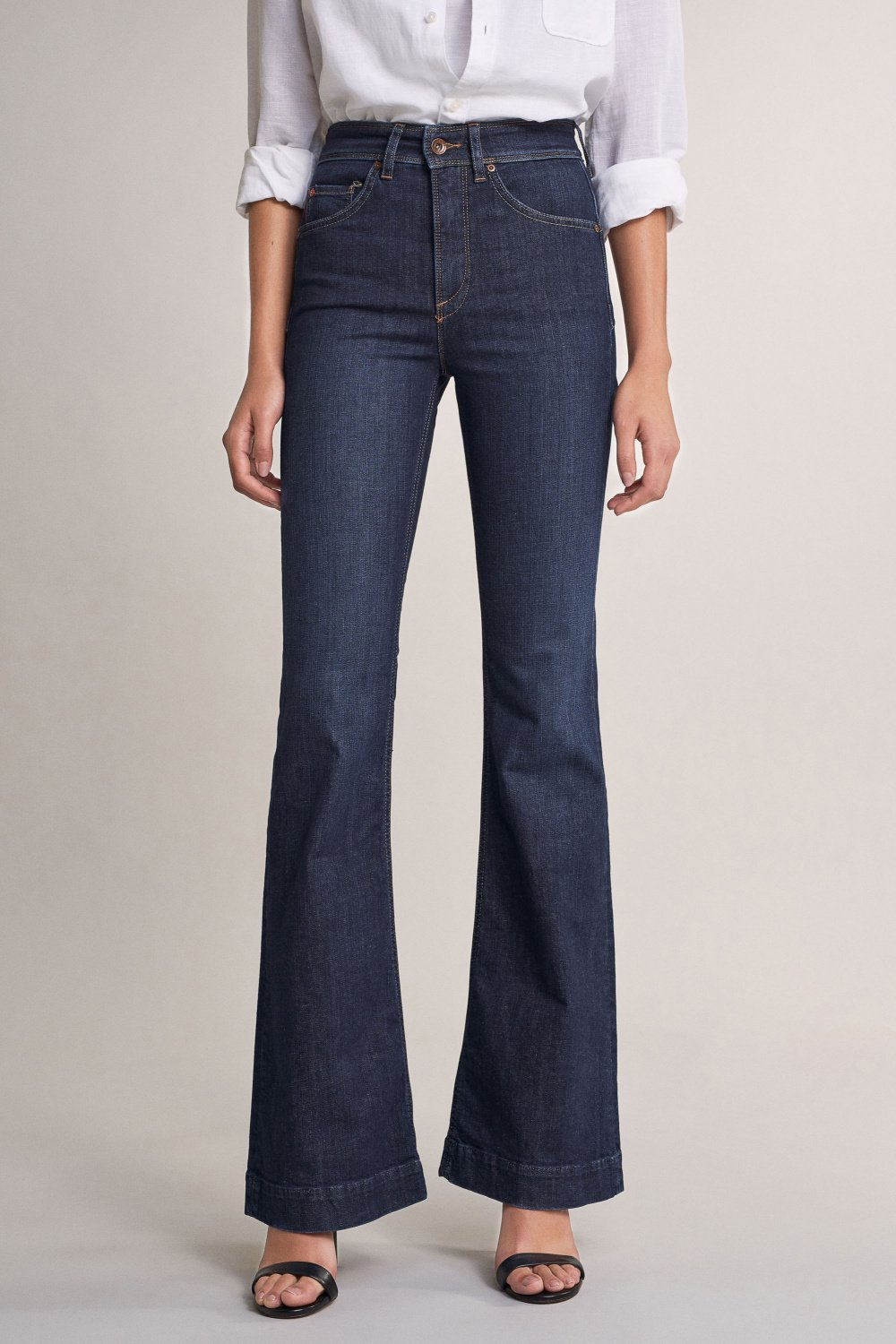 Jeans secret glamour push in flare - Salsa